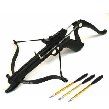 La ballesta de pistola Cobra – Ace Martial Arts Supply Cobra System Self Cocking Pistol Tactical Crossbow, 80-Pound