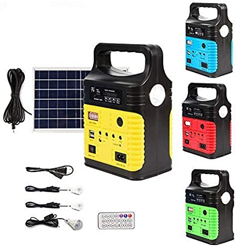 Generador de electricidad con sistemas de luces para emergencia / UPEOR Solar Generator Lighting System Portable Solar Power Generator Kit for Emergency Power Supply